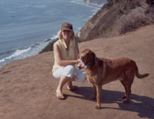 Kathleen St. James and her Dog